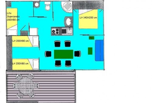 chalet confort 6 person plan